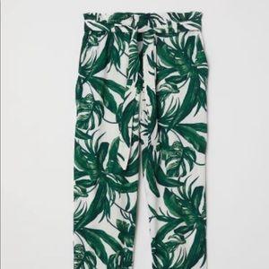 H&M Palm Tree Print Pants